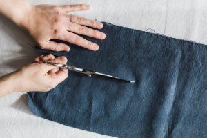 tejido de lino natural