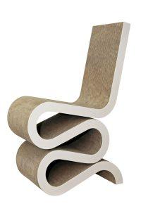sillón de cartón