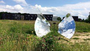 horno solar parabólico